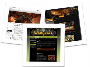Ideal examples of templates for a video games website
